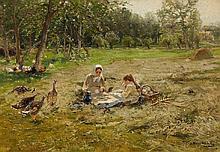 Hugo Mühlig , Picnic in a Meadow