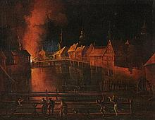 Netherlandish School of the 17th century, Burning City