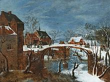 Flemish School, ca. 1600, A Village in Winter