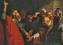 Flemish School, 17th century, Jesus and the Pharisees