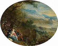 Flemish School of the 17th century, Landscape with Rest on the Flight to EgyptLandscape with the Flight of the Holy Family
