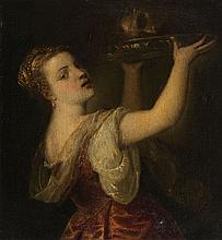 Tiziano Vecellio, copy after, Salome with the Head of Saint John