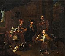 Gerard Thomas , The Tax Collector in his Study Presented with Game