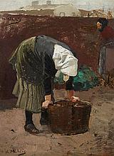 Hugo Mühlig, A Peasant Woman with a Basket