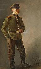 Hugo Mühlig, Self Portrait in Uniform