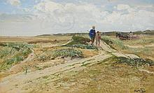 Hugo Mühlig, A View in Sylt with Ramblers and a Cart