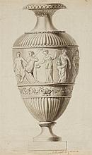 Pierre Révoil, Design for an Opulent Vase