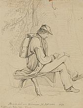 Peter von Hess, Artist Drawing