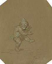 Moritz von Schwind, A Jumping Dwarf (Rumpelstiltskin)