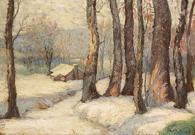 Károly Ferenczy, A Winter Landscape