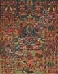 A Bön-thangka of Nampar Gyalwa. Tibet. 19th/Early 20th century