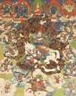 Thangka of Dalha Paten Magpön, the God of War. Mongolia. 18th/19th century