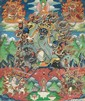 A thangka of Shingbyacan. Tibet. Late 19th century