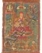 A 'thangka' of a Nyingmapa-Lama. Tibet. Ca. 19th century
