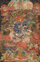 Black-ground 'thangka' of Shrimati Devi. Tibet. 18th century