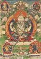 A 'thangka' of Shadakshari-Lokeshvara. Tibet. 19th century