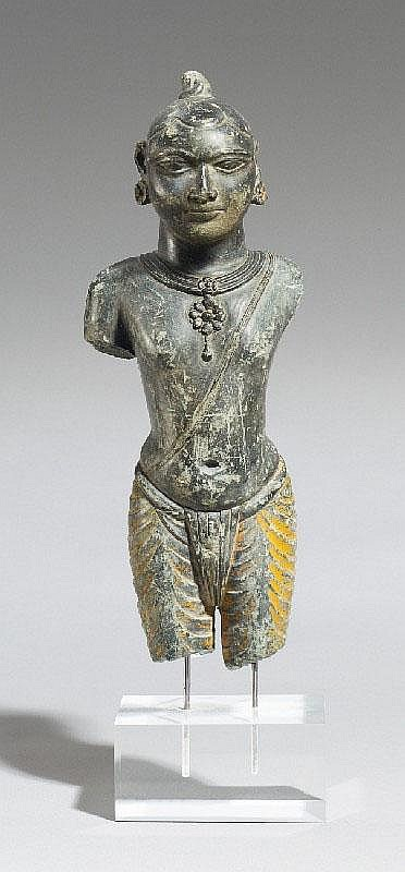 An Eastern India grey stone figure of Krishna. 18th century or later