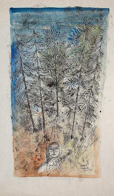 Four ink drawings by Laximan Pai (born 1924)