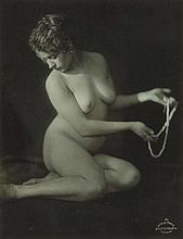 Frantisek Drtikol, Untitled (Nude with pearl necklace), 1920s