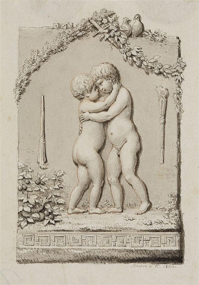 Hans Veit Schnorr von Carolsfeld, Two Children Embracing