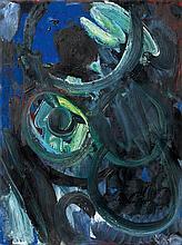 Ernst Wilhelm Nay, Mit dunklem Blau, 1963