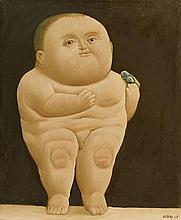 Fernando Botero, Niño con un pájaro, 1965
