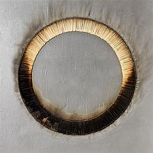 Bernard Aubertin, Dessin de feu circulaire gris, 2005