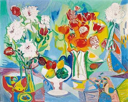 CURTH GEORG BECKER 1904 - Singen - 1972 FLOWER