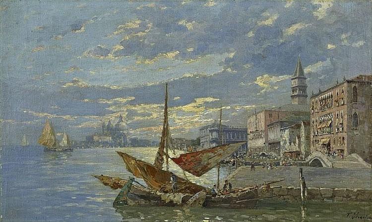 FERDINANDO SILVANI. THE MOLO DANIELI ON THE RIVA
