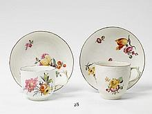 Two KPM porcelain coffee cups.