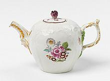 An early KPM porcelain teapot.  H 8.5 cm.