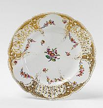 A KPM porcelain dinner plate from the 1st Potsdam