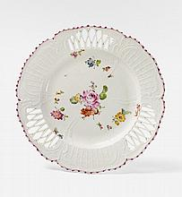 A KPM porcelain dessert plate with deutsche