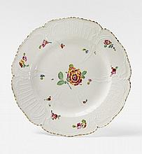 A KPM porcelain dinner plate made for General de
