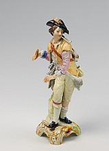 A KPM porcelain figure of a shepherd as an