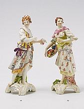 A KPM porcelain figure of a shepherdess as an