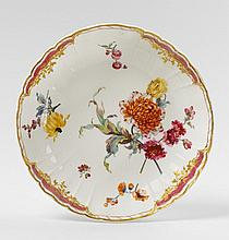 A KPM porcelain jam dish made for Frederick II.