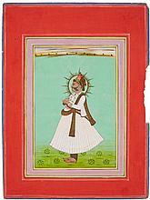 A Rajasthani portrait of  Maharaja Shri Gaj Singhji. Bikaner. Dated 1887