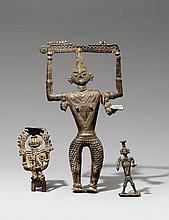 A group of three Bastar tribal deities. 20th century