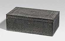 A Nagina ebony box. Eastern India, Bijnor. Ca. 1870 or little later