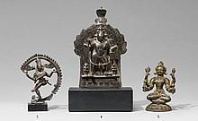 A bronze figure of Vishnu. 19th century or earlier