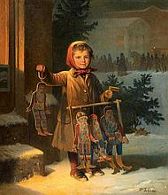 Adolf Jebens, Christmas Market at the Alte Wache in Berlin