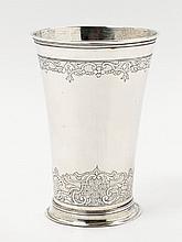 A régence Augsburg silver beaker. Marks of Philipp