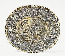 An Augsburg silver gilt sideboard dish;