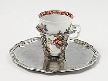 A South American silver trembleuse and a Meissen