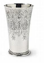 A large Cologne silver beaker with inscribed