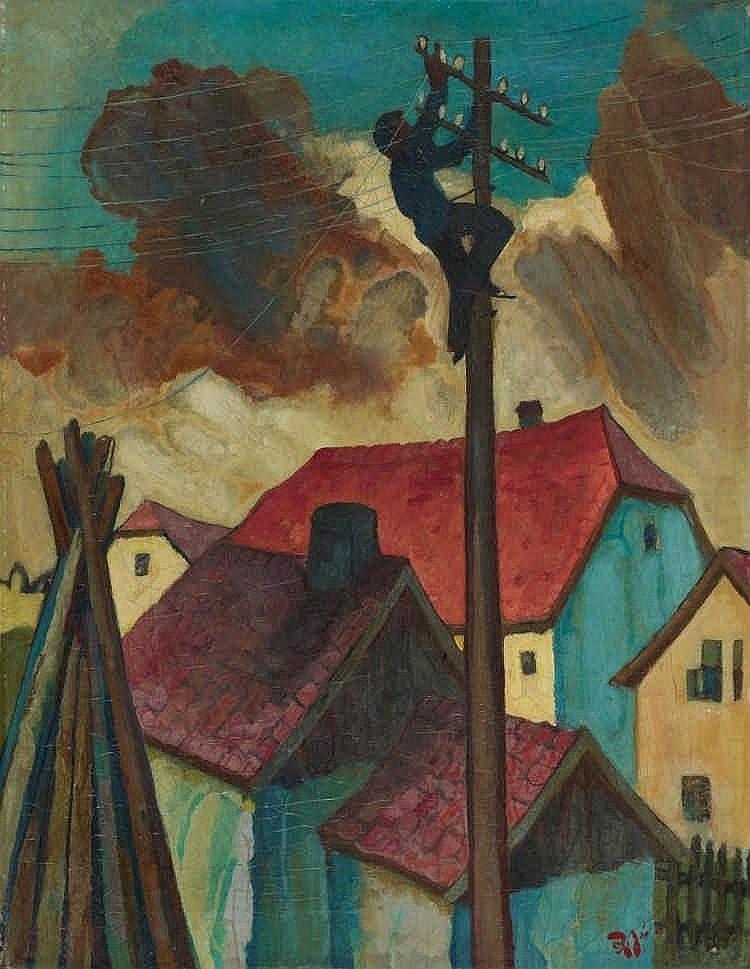 Gustav Wiethüchter, Telegraphenarbeiter, 1930s
