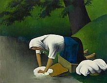 Tobeen (Félix Bonnet), La Laveuse / Lavandière, Circa 1920