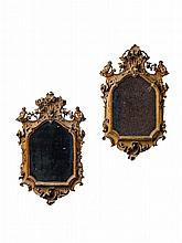 A rare pair of small carved lindenwood Baroque frames