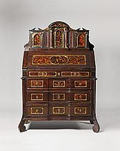 An Italian tabernacle cabinet a deux corps
